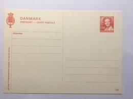 Denmark Postkort 220 250 Red Unused - Ganzsachen