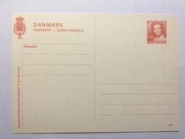Denmark Postkort 221 250 Red Unused - Ganzsachen