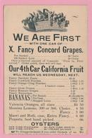 TH.15 Entier Postal USA Burlington 25.8.93 Repiqué Fruits Bananes Raisins Poires Pommes Etc.. - Food
