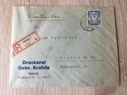 GÄ26223 Danzig 1935 R-Brief Von Danzig Nach Berlin - Allemagne