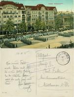 """GLOWNO Glowna 1915 """" Militärparade Wilhelmsplatz """" Feiner FELDPOST-Bedarf O Glowno + Zensur Mülhausen/Elsass - Posen"""
