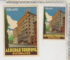 ETICHETTA LABEL ETIQUETTE  MILANO ALBERGO TOURING - Publicités