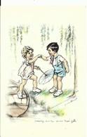 """CPA Germaine BOURET Illustrateur , """" Donnez Moi La Main Mamzelle """" , Enfants - Bouret, Germaine"""