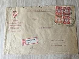 GÄ26223 Danzig 1930 R-Brief Von Danzig-Langfuhr Nach Berlin - Deutschland