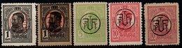 Romania 1918, Scott 245-247 MNH, Overprint, King Charles / Carol - 1881-1918: Charles I