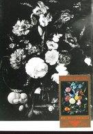 50070 Germany Ddr Maximum 1974 Painting Ein Blumenstrauß Mit Blauer Schwertlilie; Von Jan Dividsz De Heem   (photo Card) - DDR