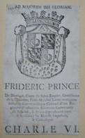 Ex-libris Héraldique XVIIIème - FREDERIC PRINCE DE DIESBACH - Ex Libris