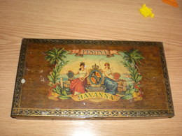 Old Tin Box  Big Box Festina Havanna Delicates 25 - Empty Tobacco Boxes