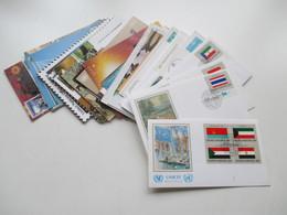 UNO / Vereinte Nationen UNO Wien 80er / 90er Jahre Mit FDC Und Maximumkarten Auch ZD Gefährdete Arten - Centre International De Vienne