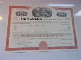 HERCULES (USA) - Azioni & Titoli