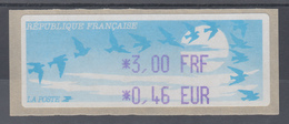 Frankreich LISA-ATM Auf Papier Vogelzug Hell Wert Violett 3,00 FRF / 0,46 EUR ** - Vignettes D'affranchissement