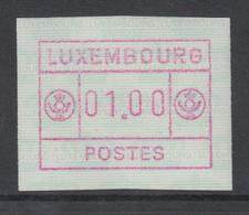 Luxemburg FRAMA-ATM 2.Ausgabe Inschrift POSTES Klein , Mi.-Nr. 2 ** - Vignette