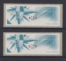 Luxemburg 1997 Monétel-ATM Windrose Satz 2 Werte 16 / 22 ,  Mi.-Nr. 4 ** - Vignette