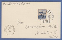 Zeppelin LZ129 Hindenburg Bordpostkarte Mit O 23.3.36  - Non Classés
