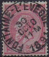N° 46 Oblitération FONTAINE L'EVEQUE - 1884-1891 Leopold II