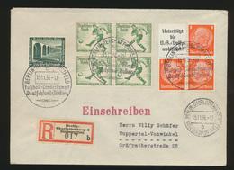 Deutsches Reich R Brief Zusammendruck Hindenburg Olympia SST Fußball Sonder R - - Ohne Zuordnung