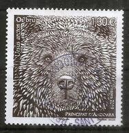 ANDORRA. L'Ours Brun Des Pyrénées, The Brown Bear Of The Pyrenees, Aun Timbre Oblitéré, 1 ère Qualité - Andorre Espagnol
