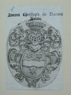 Ex-libris Héraldique XVIIIème - ANTOINE CHRISTOPHE DE DUNANT BITTER - Ex Libris