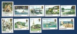 Guernsey, Yv 290/9, Série Courante, Vues De L'île ** - Guernesey