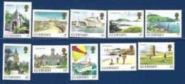 Guernsey, Yv 327/36, Série Courante, Vues De L'île ** - Guernesey