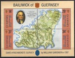 Guernsey, Yv BF7, Cartographie : Bicentenaire De La 1e Carte De L'île ** - Géographie