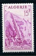 Algeria SC# 255 Hydroelectric  VLH  1954 - Algeria (1924-1962)