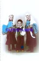 127358 REAL PHOTO COSTUMES CARNIVAL DESGUISE BOYS ARAB & RARE NO POSTAL POSTCARD - Photographs