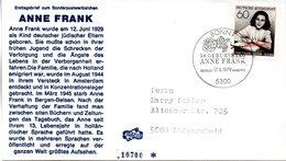 """BRD Schmuck-FDC """"50. Geburtstag Von Anne Frank"""" Mi.1013  ESSt BONN 17.5.1979 - [7] Federal Republic"""