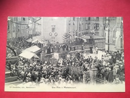 Mattaincourt, Animée Vers 1900, Canton De Mirecourt (88)  Une Fête Devant La Basilique St Pierre Fourrier, - Mirecourt