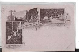 GIROMAGNY  3 VUESCASCADE. ROCHES DU CERF . MAISON TOURTET KOLB  VOYAGEE 1898    DEPT 90 - Giromagny