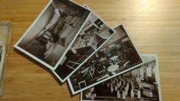 """Paquebot Normandie :pochette 12 Photos """"souvenir"""" : Ds Le Port,salon,fumoir,cabine,piscine,salle à Manger,salle Jeux Enf - Passagiersschepen"""