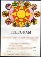 POLAND 1977 TELEGRAM SPECIAL OCCASION SIGNS OF THE ZODIAC ASTROLOGY USED LX 95 TÉLÉGRAMME TELEGRAMM TELEGRAMA TELEGRAMMA - Astrología