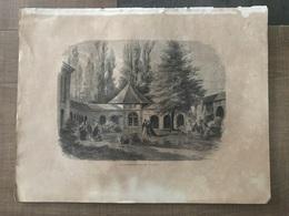 Gravure CONTREXEVILLE Vosges - Old Paper