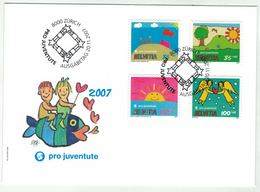 Suisse /Schweiz/Svizzera/Switzerland // Pro-Juventute  // 2007 // FDC Série Pro-Juventute 2007 1er Jour - Pro Juventute