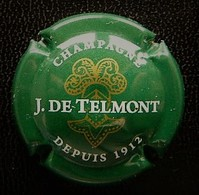 (dch-272) CAPSULE-CHAMPAGNE  J. De Telmont    Vert Foncé -  Donkergroen - Non Classés