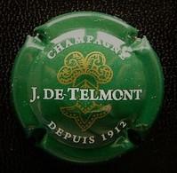 (dch-272) CAPSULE-CHAMPAGNE  J. De Telmont    Vert Foncé -  Donkergroen - Champagnerdeckel