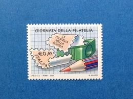 2003 ITALIA GIORNATA DELLA FILATELIA FRANCOBOLLO NUOVO ITALY STAMP NEW MNH** - 1946-.. République