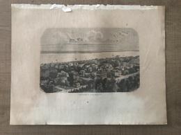 Gravure ARCACHON Vue Générale - Old Paper