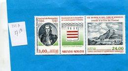 T A A F-timbre N°222A  Triptyque   Amiral Kerguelen Neuf** Sans Ch  -cote 17.5eu - Ongebruikt
