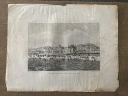 Gravure Bains De Mer De Cherbourg - Old Paper