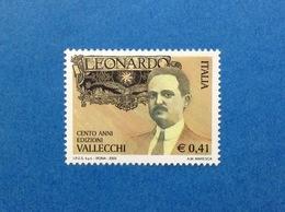 2003 ITALIA EDIZIONI VALLECCHI RIVISTA LEONARDO FRANCOBOLLO NUOVO ITALY STAMP NEW MNH** - 1946-.. République