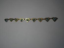 Ancien BRACELET CŒUR Pierre Bleu En Cœur ?  (A Réparer) Long 11 Cm Env - Bracelets