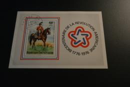 K24748-  Bloc Used Central Africa 1976 - Bicentenaire De La Revolution Americaine - Onafhankelijkheid USA
