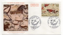FDC  - -1968 --Les Grottes De Lascaux-Dordogne--Une Des Nombreuses Peintures Rupestres ......cachet  MONTIGNAC-24 - FDC