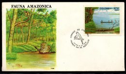 COLOMBIA- KOLUMBIEN- 1979. FDC/SPD.  AMAZONAS RIVER - Colombia