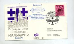Lettre Cachet Hannovre Journee Eglise  Vol Zeppelin Schwab - Zeppeline