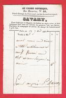FACTURE 18 SEPTEMBRE 1832 AU CADRE GOTHIQUE RUE MAZARINE N°40 A PARIS SAVARY PEINTURE PASSAGE PONT NEUF RUE GUENEGAUD - 1800 – 1899