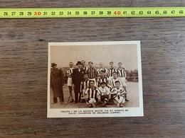 1934 M EQUIPE SOCIETE MIXTE TIR ET SPORTS DE CALVI CHAMPION DE BOLOGNE  CORSE - Collections