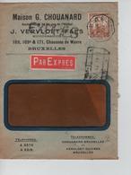 REF159/ TP 113 S/L.Exprès Entête Maison G.Chouanard C.T.BXL 1913 > Duffel C.C.F. En Arrivée - 1912 Pellens