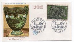 """FDC  - -1966 - VIX--La Tombe Princière """"Cratère"""".......cachet  CHATILLON SUR SEINE - 21 - FDC"""